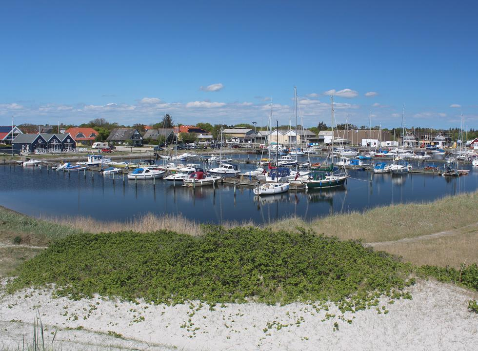 The marina in Hou is surrounded by eateries, shops and small fishing houses