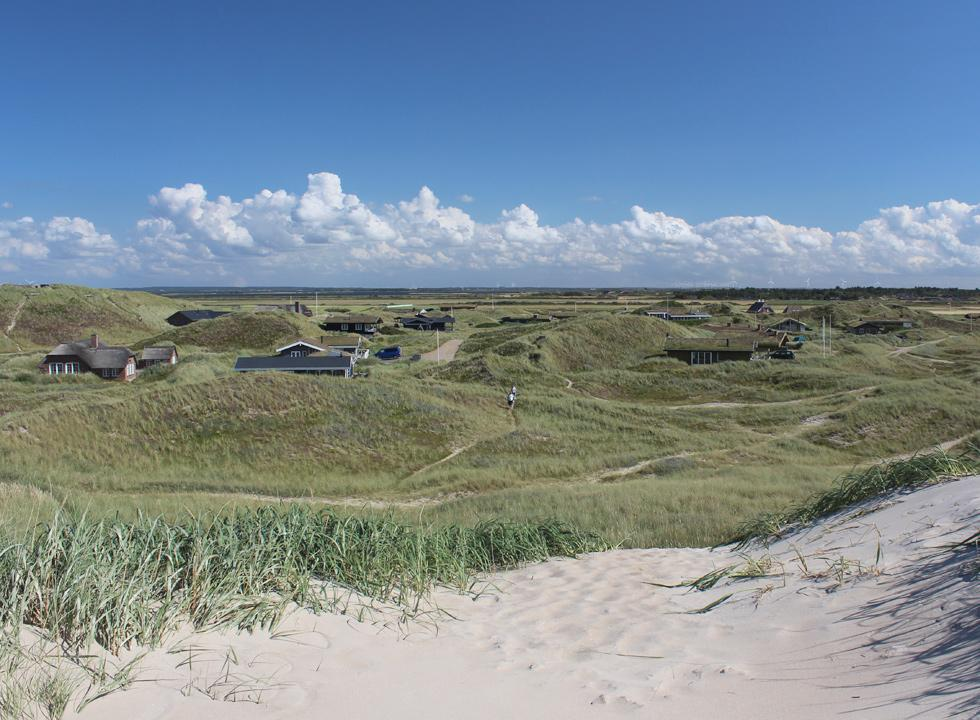 The holiday homes in Houvig are located in a hilly dune landscape right behind the shore