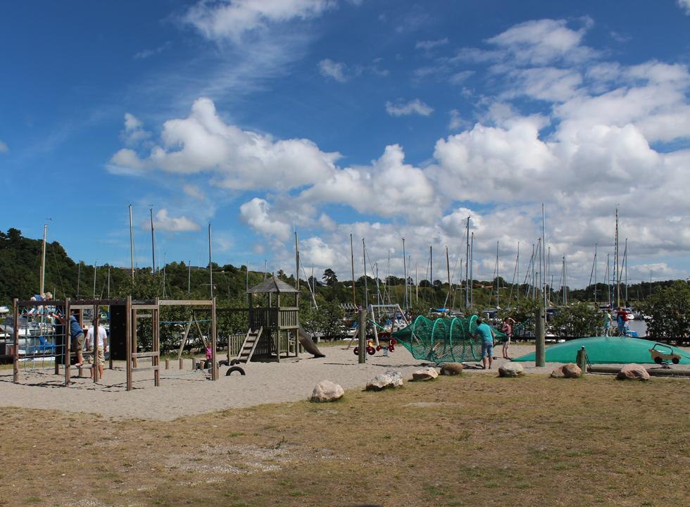Fine playground for the children in the marina of Lynæs, near Hundested