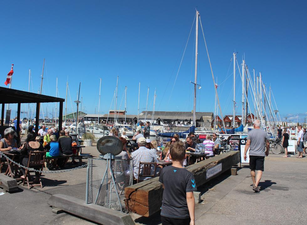 A summer day in the brisk marina in Hundested
