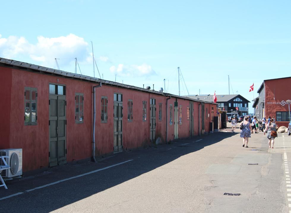 Beautifully restored warehouses in the harbour of Hundested