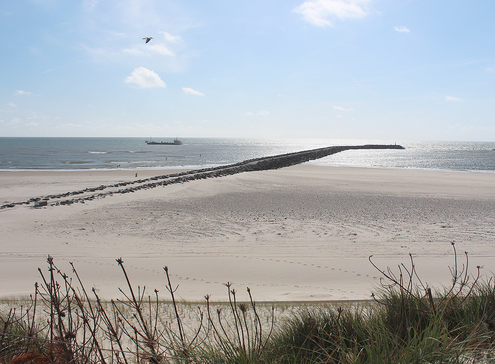 The long pier on the beach of Hvide Sande
