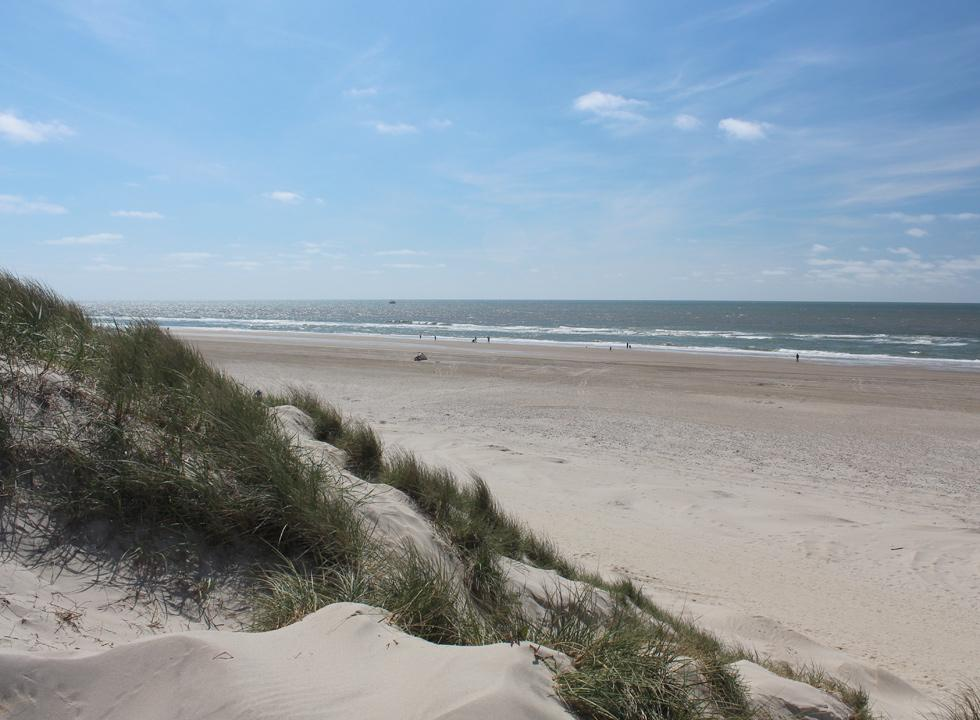View of the lovely bathing beach in Henne Strand, just 14 km from Jegum