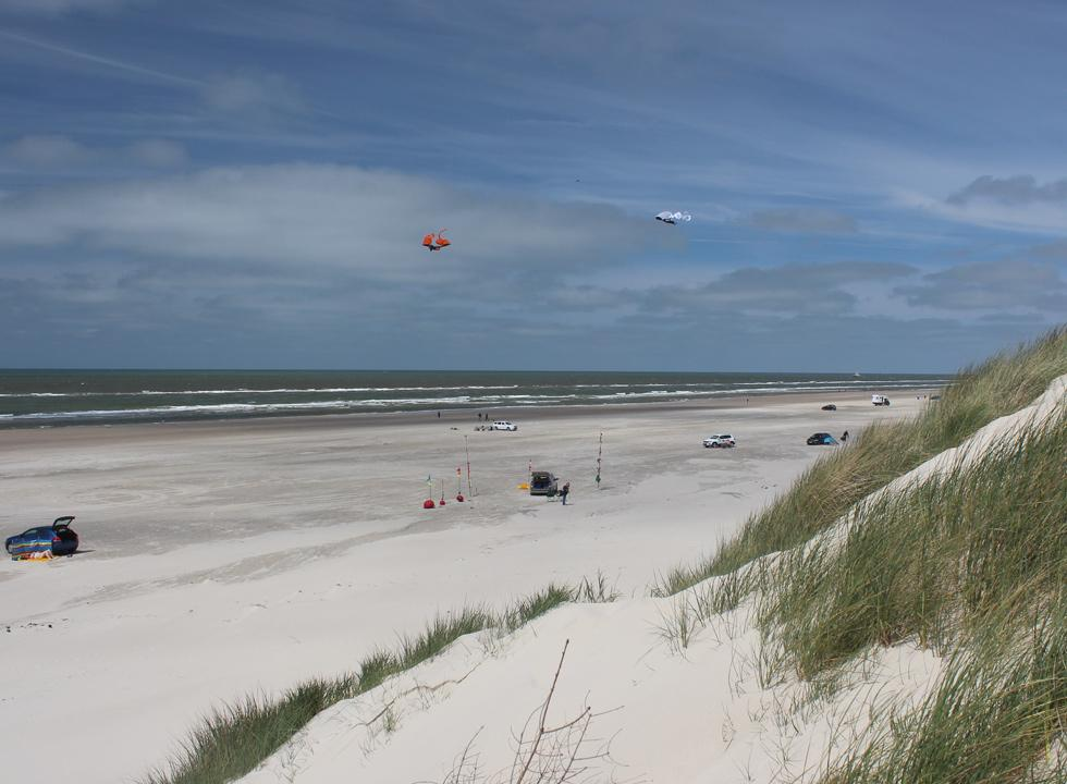 You can bring your car to the wide sandy beach with high dunes in Vejers, just 16 km from Jegum