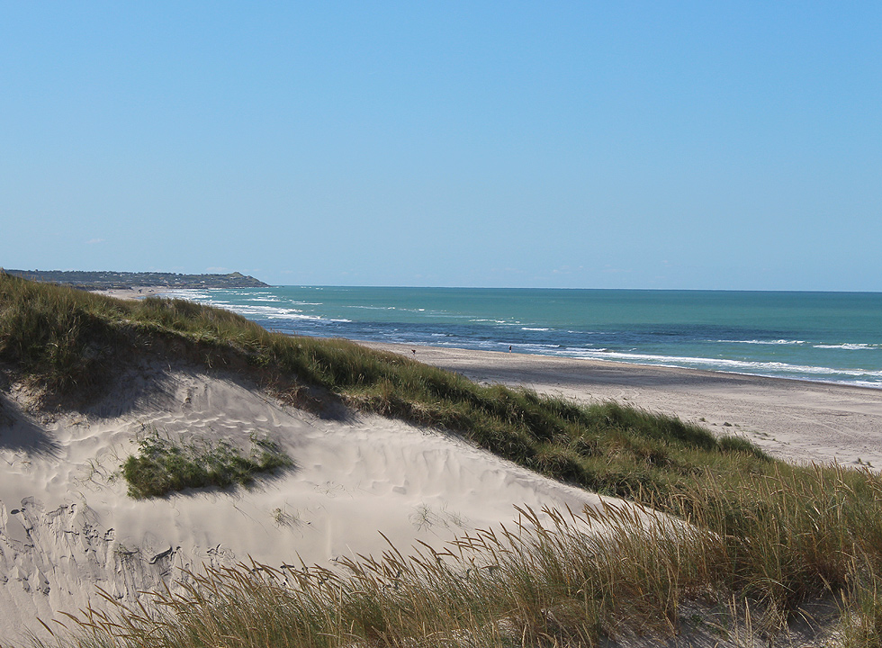 View towards south from the dunes of Kærsgård Strand