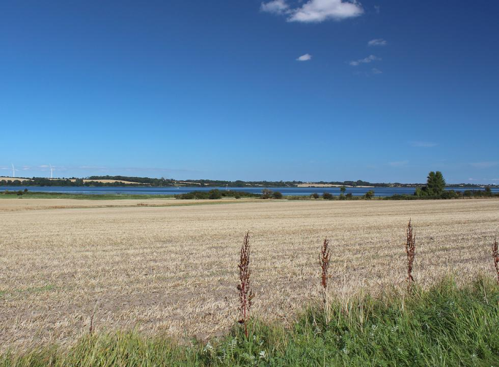 View of the fields to the sea, Hørup Hav, between Kegnæs and Als