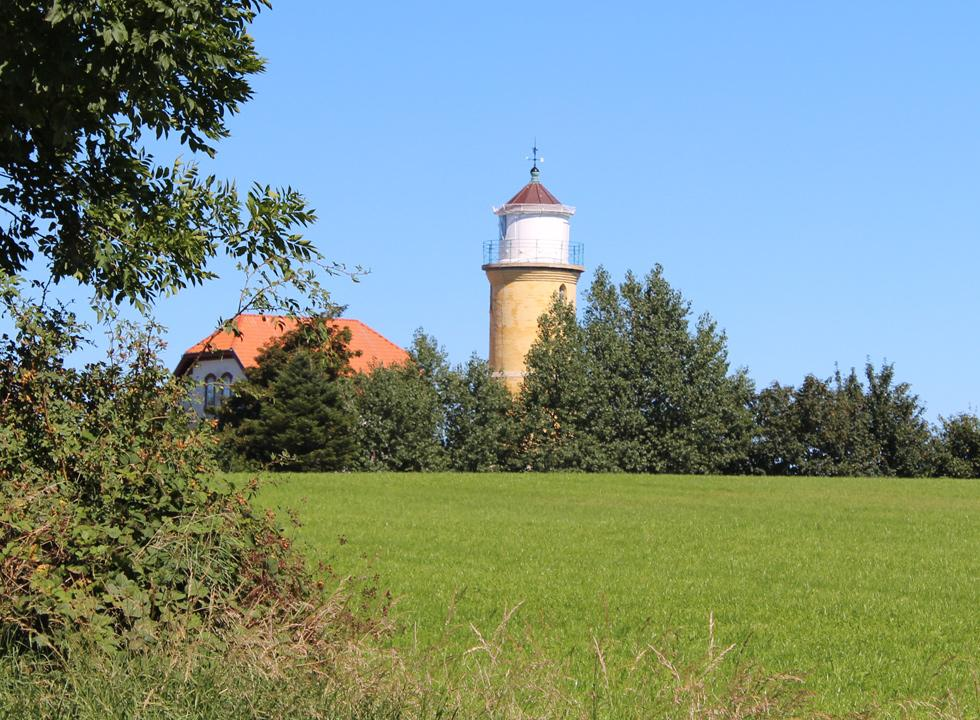 The lighthouse, Augustenhof Fyr, is situated close to the holiday home area Købingsmark