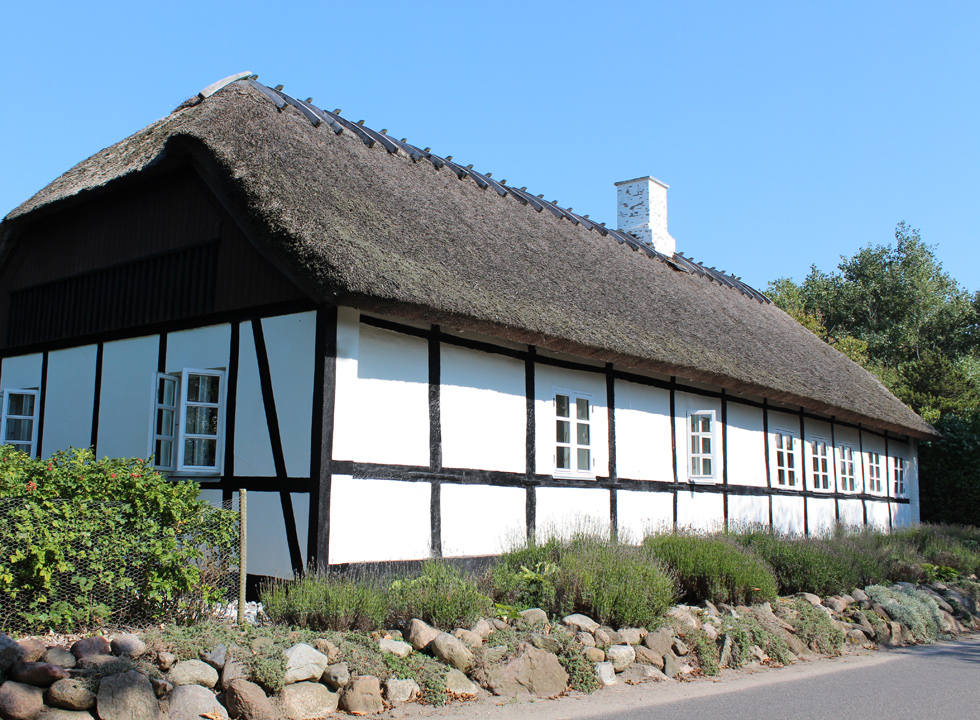 One of the charming and well-maintained half-timbered houses in Kramnitse