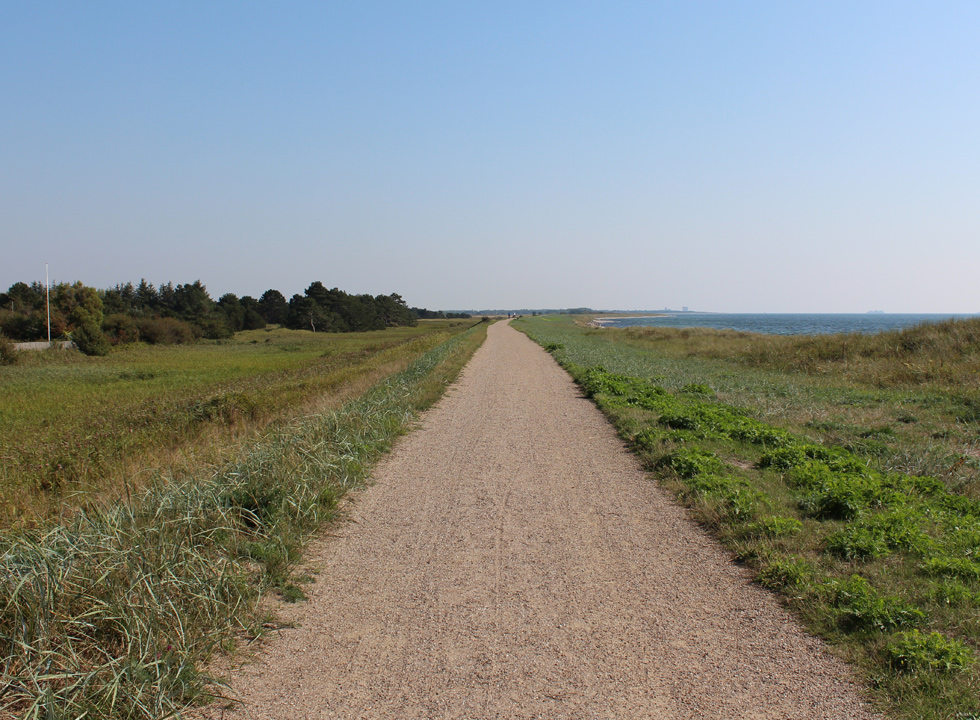 The path, Digestien, in Kramnitse, which stretches all the way along the south coast of Lolland