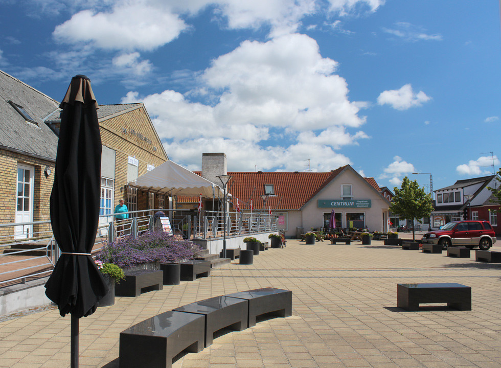 Charming square in the centre of Byrum on Læsø