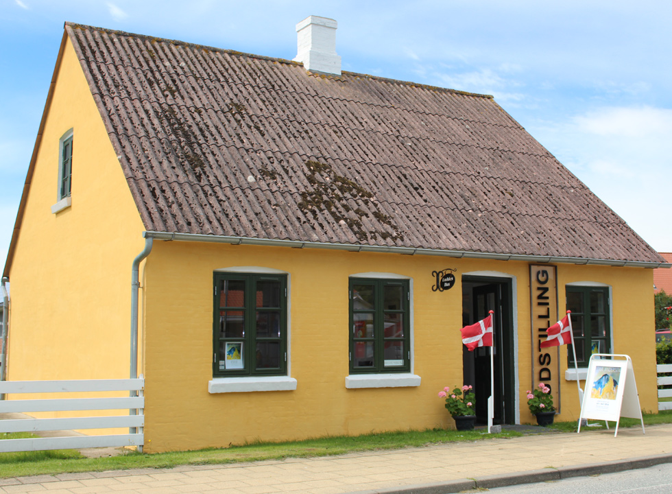 The small museum, Luddes Hus, in the centre of Byrum