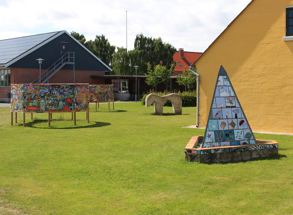 Art in the garden of the museum, Luddes Hus, in Byrum