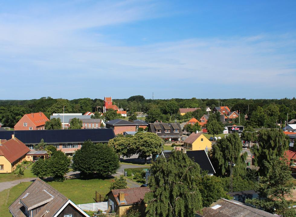 A view of Byrum from the 17 metres high Læsø tower