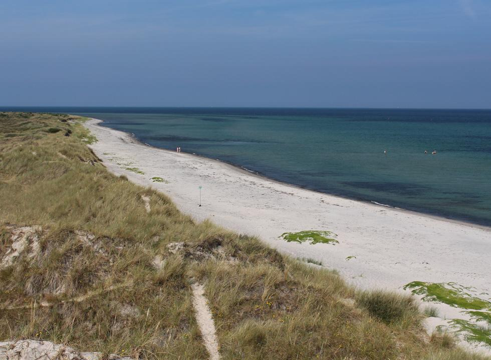 The beach, Hvide Bakker, with white sand and high dunes are located close to the holiday homes in Nordmarken