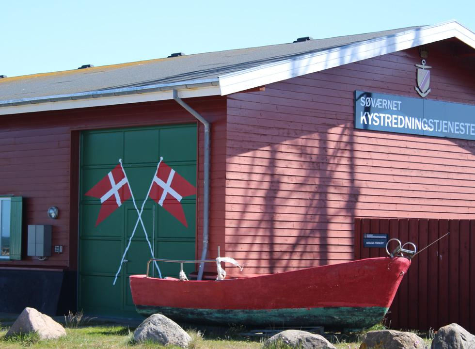 The rescue house in Osterby is situated right between the marina and the fishing harbour
