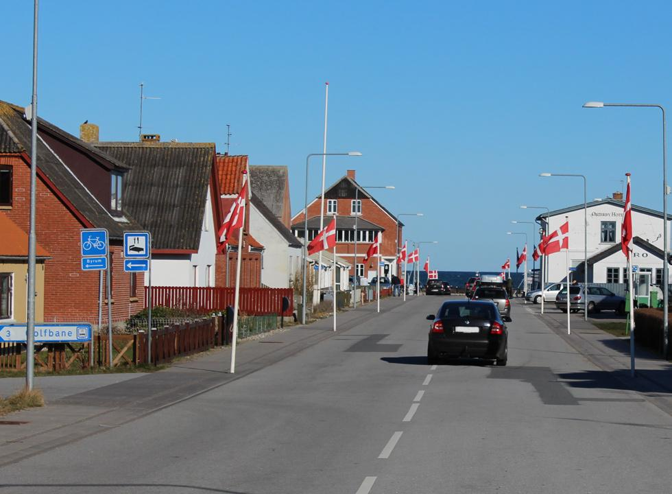 The main street in Osterby on Laso