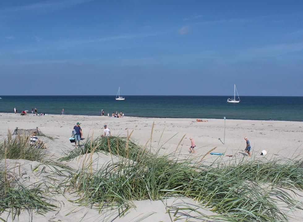 A lovely summer day on the beach of Osterby on Laso