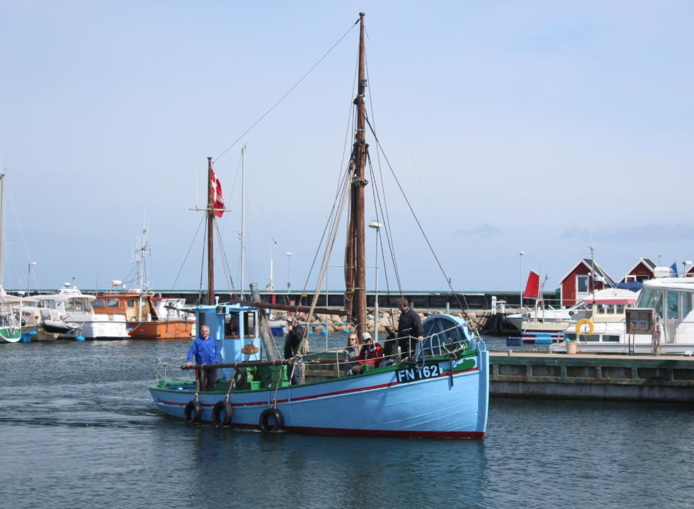 The harbour in Vestero is also an active fishing harbour