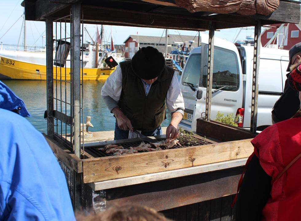 The Laso speciality, langoustine, is grilled on the harbour during Havets Dag (day of the sea) in Vestero
