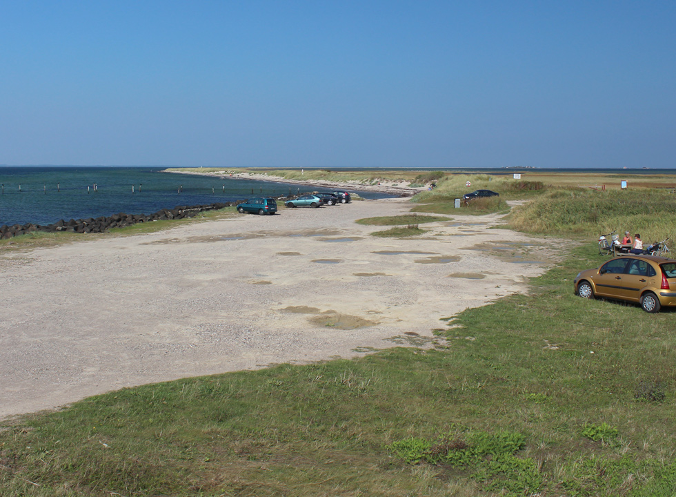 Bathing beach and picnic area in Albuen on the westernmost point on Lolland
