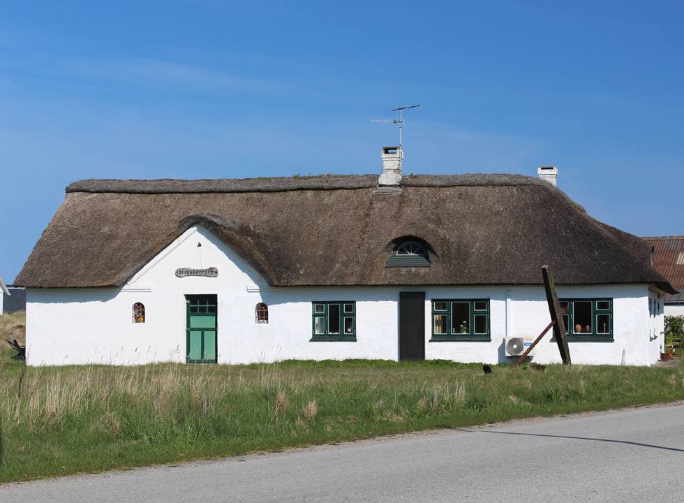 Idyllic and thatched house in the holiday area Lild Strand