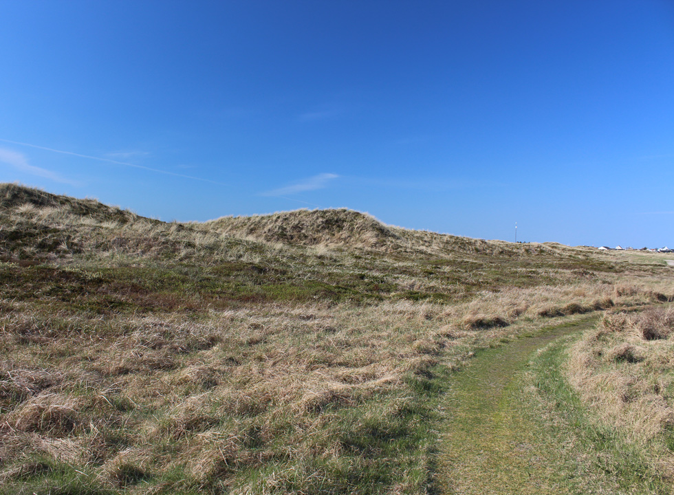The path, Nordsøstien, which leads you through the hilly dune area in Lild Strand