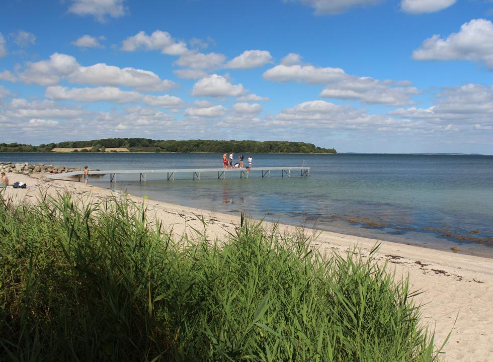 Lovely sandy beach with shallow child-friendly water in Løjt