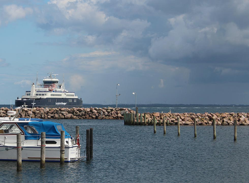 The ferry, which sails between Spodsbjerg and Taars on Lolland