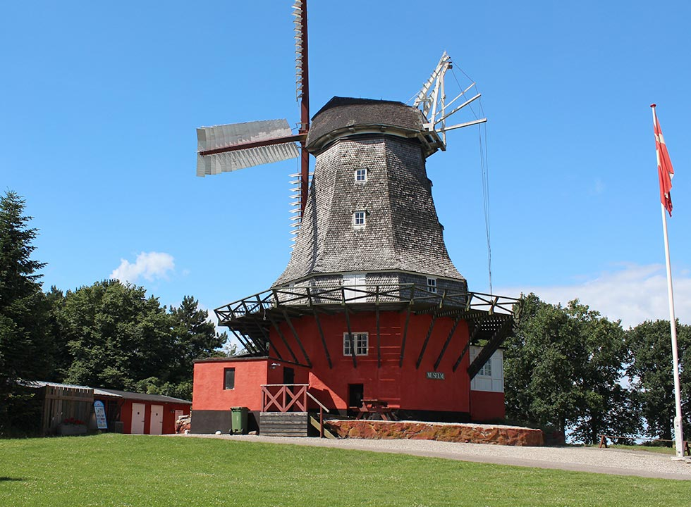 Mill museum in Tranekar Molle, 6 km to the north of the holiday home area Lokkeby