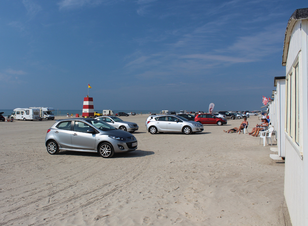 Summer day on the beach of Lokken