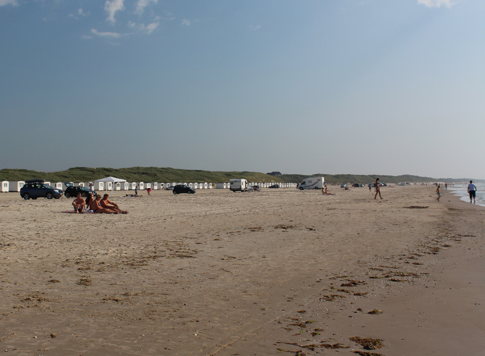Bathing beach in the southern part of Lokken