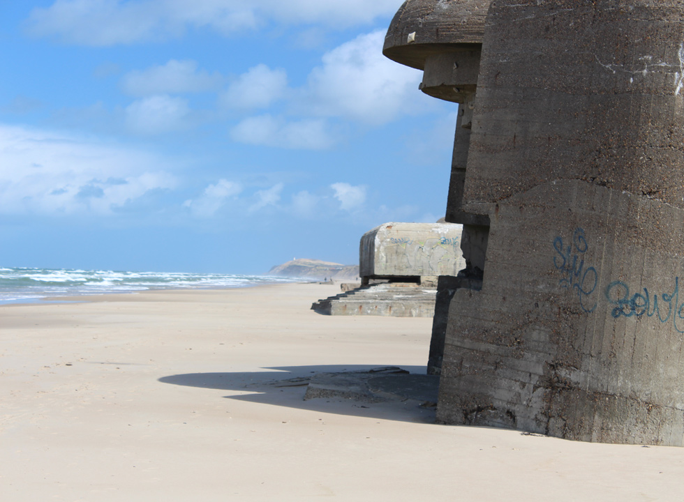 Bunkers on the beach of Lokken