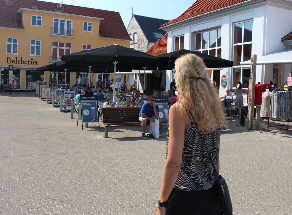 The square in Lokken with brewhouse and hard candy maker