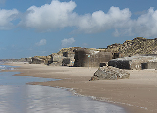 Bunkers on the northern part of the beach in Løkken
