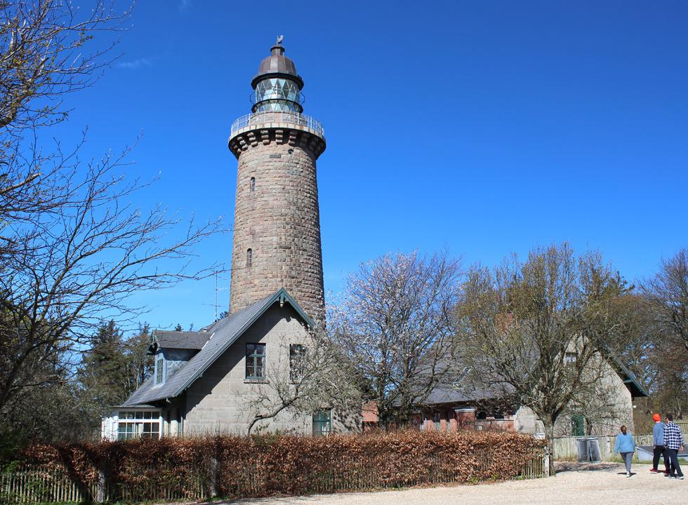 The lighthouse Lodbjerg Fyr in Nationalpark Thy, 7 km from Lyngby, Thy