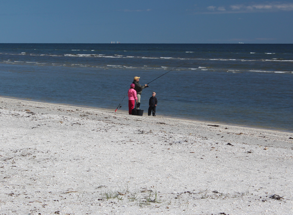 You can also fish from the beach in the holiday home area Lyngså