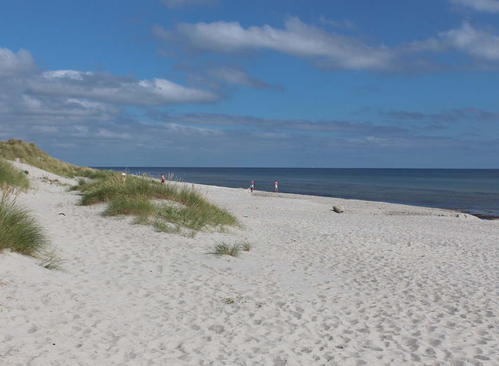 A summer day on the wide sandy beach in the holiday area Lyngså