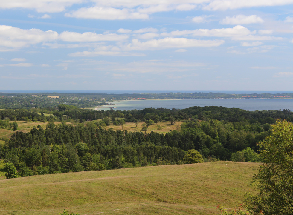View of the bay Ebeltoft Vig from Nationalpark Mols Bjerge, close to Lyngsbæk Strand