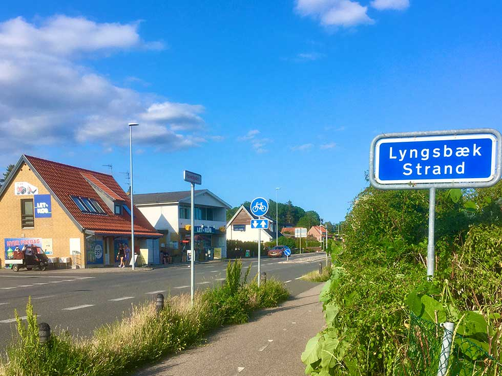 The holiday homes in Lyngsbæk are situated right behind the beach in green and scenic surroundings