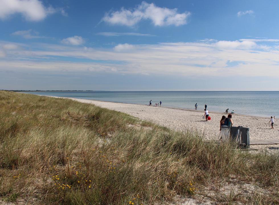 A summer day on the lovely sandy beach in Bøtø, near Marielyst