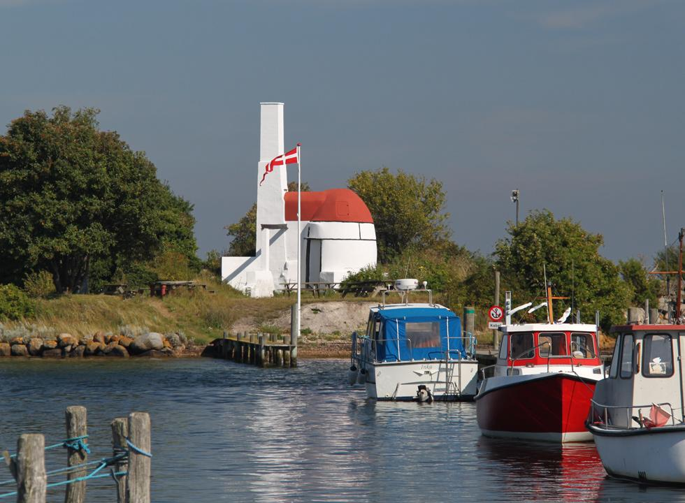 The lime kiln on the harbour pier in Marstal is a popular excursion point