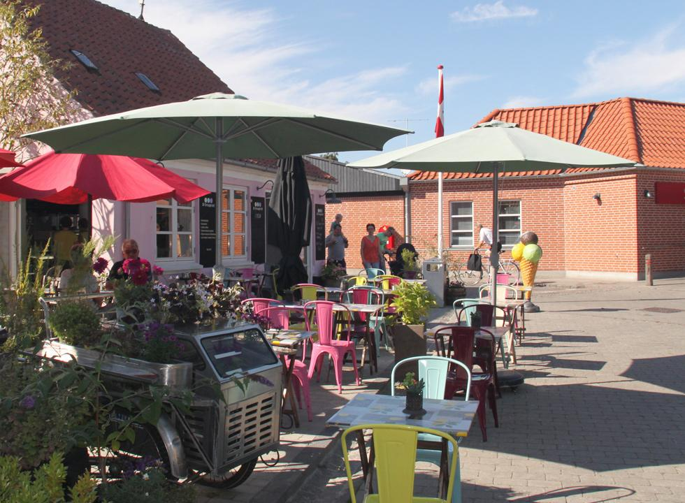 Cosy ice-cream shop on one of the squares in Marstal