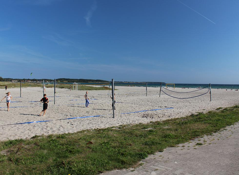 Beachvolley courses on the beach, Kerteminde Nordstrand, 8 km from Munkebo