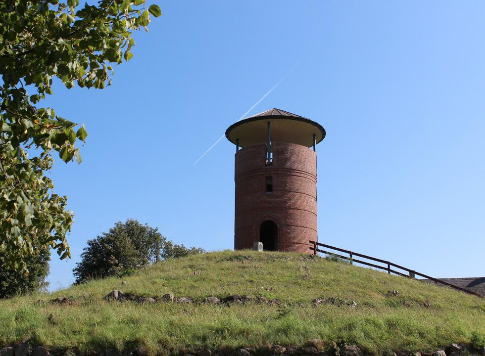 The observation tower on the hill, Munkebo Bakke, in the centre of the town