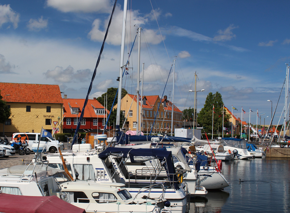 The marina of Nexø is located in the centre of the town