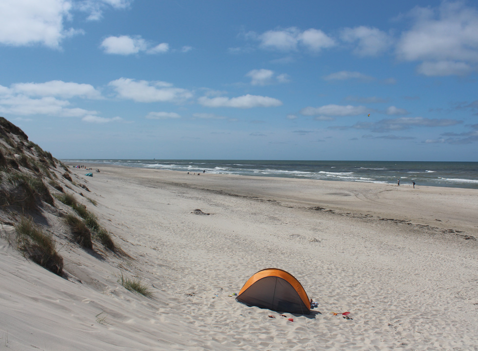 Beach activities in the soft sand of Nr. Lyngby