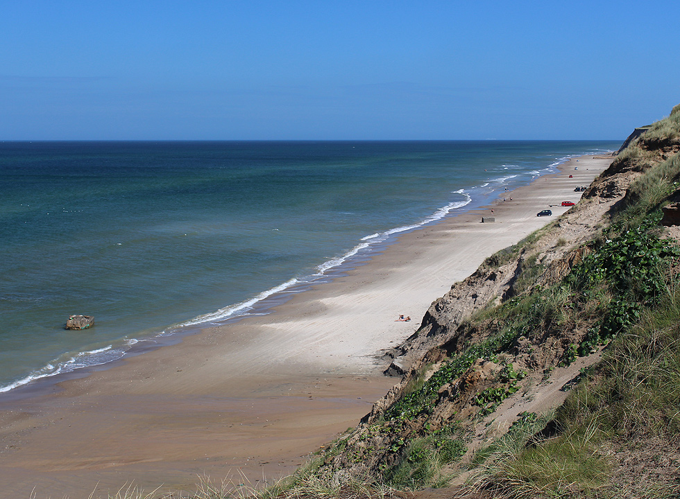 Lovely bathing beach below the slopes of Nr. Rubjerg