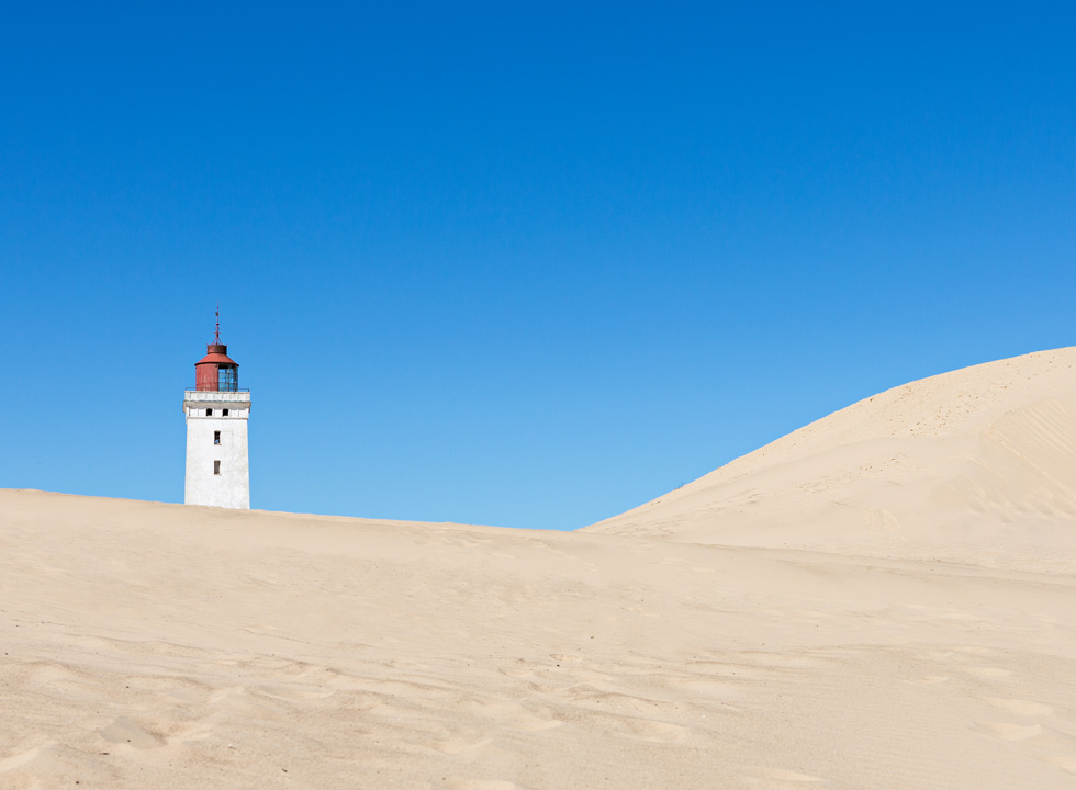 The white sand dunes, which surround the lighthouse Rubjerg Knude Fyr