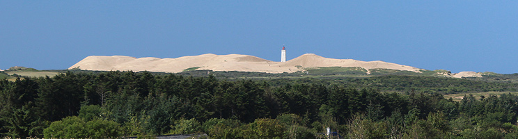 The sand dune Rubjerg Knude and the lighthouse Rubjerg Knude Fyr