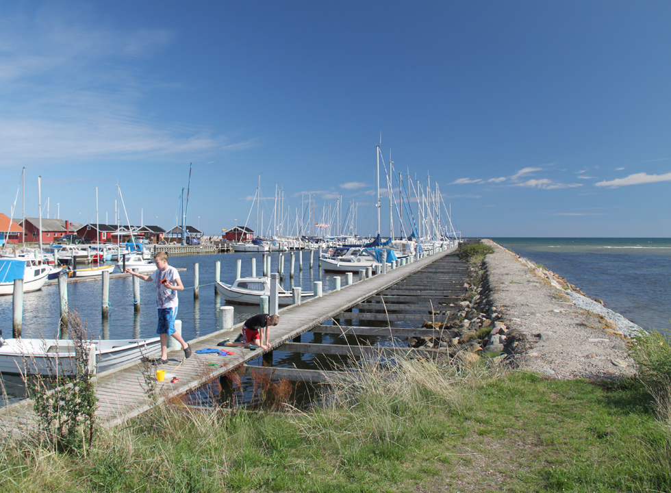 The evocative marina is located in the southern part of the beach in Oster Hurup